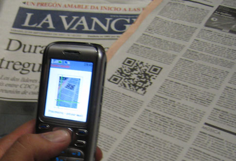 1st QR-Code in Spanish media