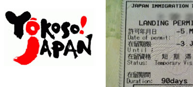 Japanese visas with QR-Codes