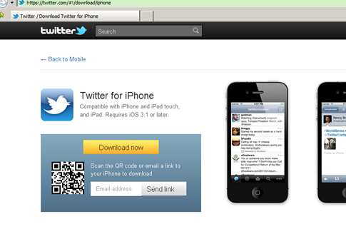 Twitter using QR-Codes