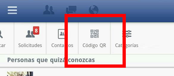 Facebook integra QR-Codes en su App