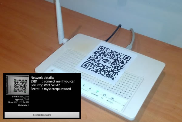 WIFI connection using a QR-Code